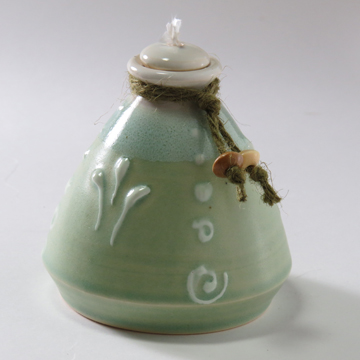 Sage Green Small Oil Lamp